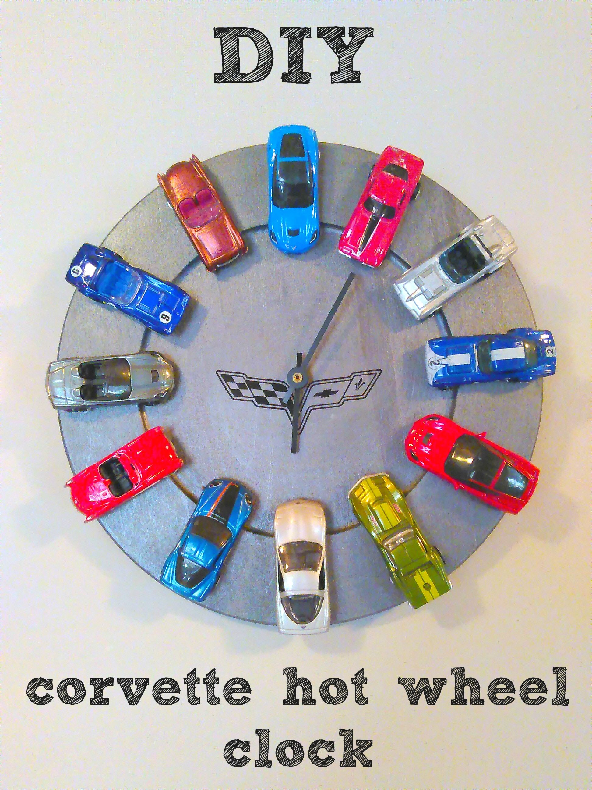 Love Cars This Diy Is The Perfect Gift For The Car Lover In Your Life You Could Use Any Cars Any Color Cars So Many Diy Clock Car Clock