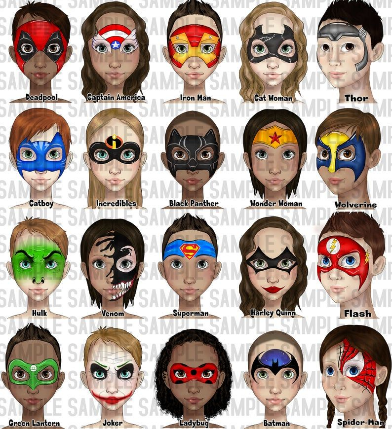 Face Painting Word Board Face Paint Design Menu Board Etsy In 2020 Superhero Face Painting Face Painting Designs Easy Face Painting Designs