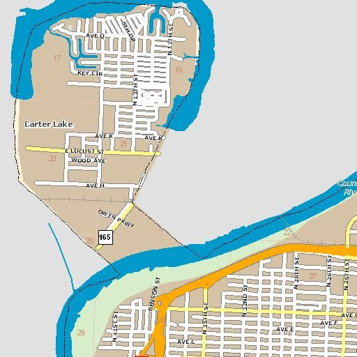 New lake map available for Carter Lake. #Iowa # | Iowa ... Carters Lake Map on