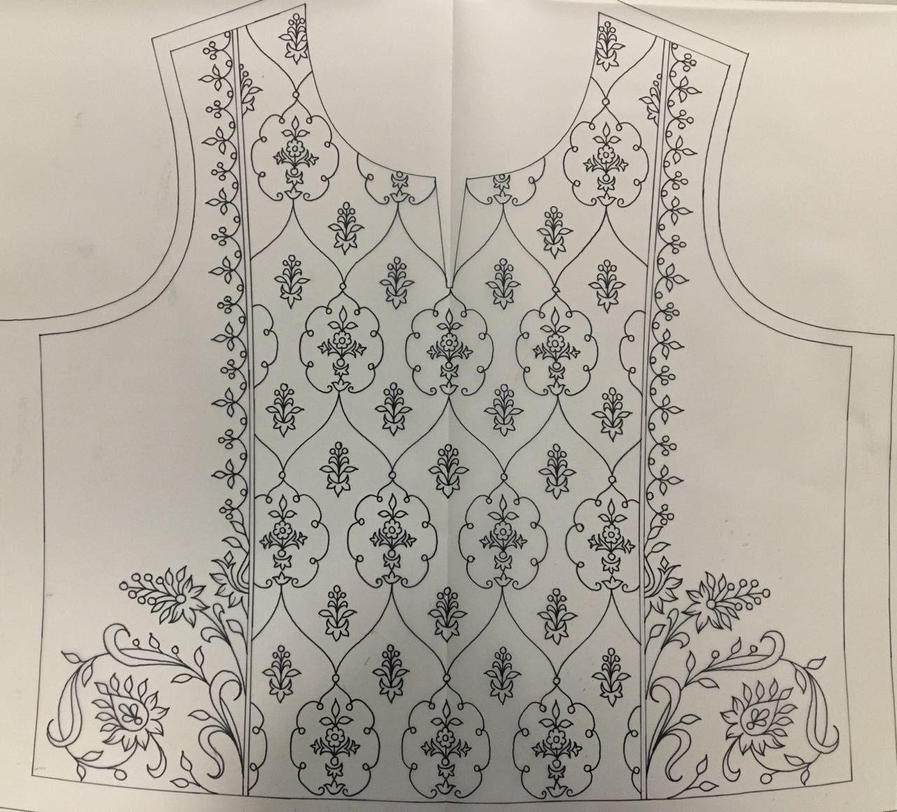 Beautiful yoke embroidery design pinterest