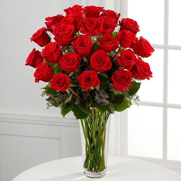 The Long Stem Red Rose Bouquet by FTD® - VASE INCLUDED ...