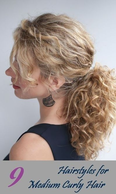 Ponytail Hairstyle For Medium Curly Hair Everyday Hairstyles For Women 2015 Medium Curly Hair Styles Curly Hair Styles Curly Hair Styles Naturally