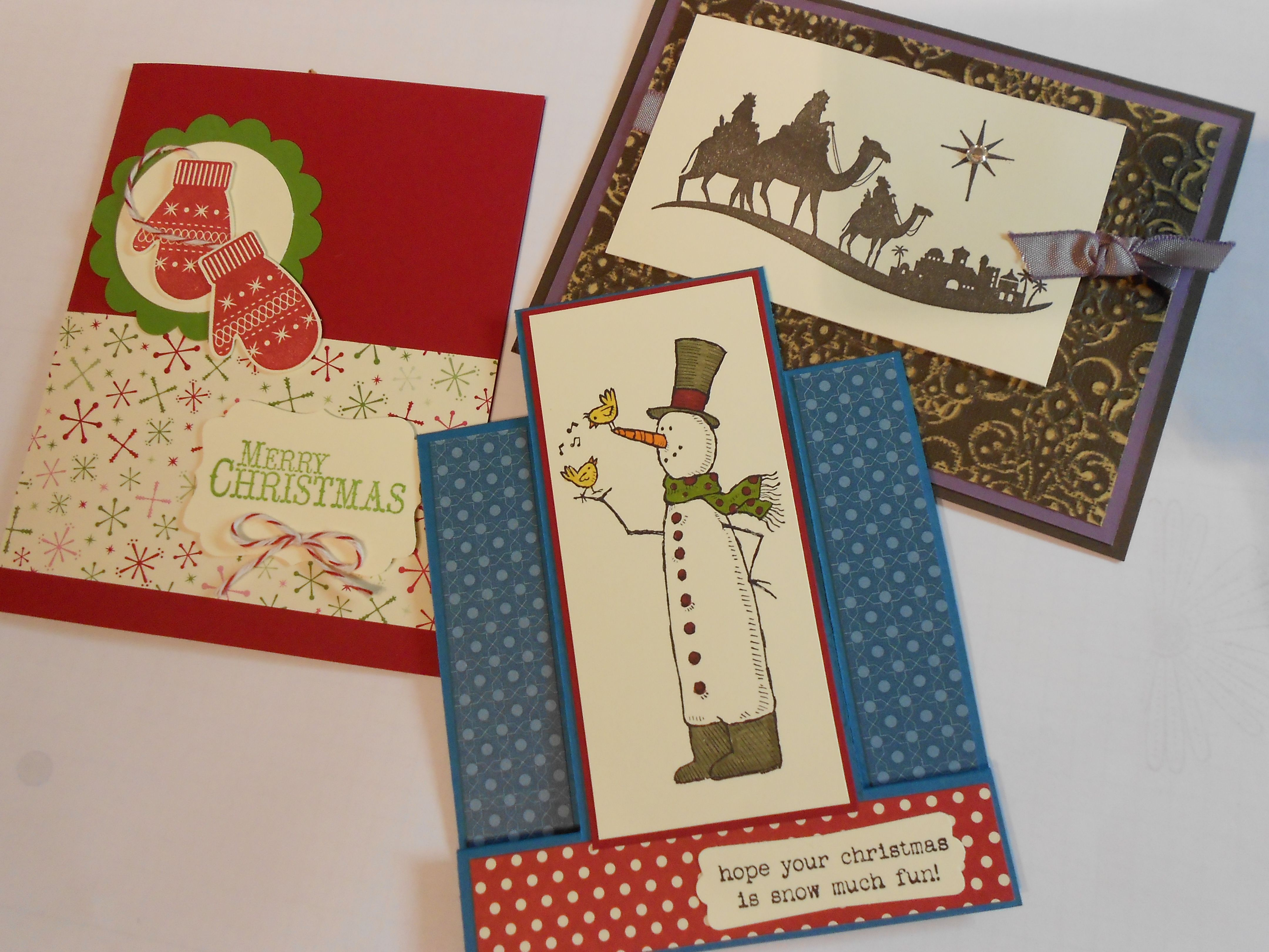 2013 Stampin Up Christmas Cards - Join Me For A