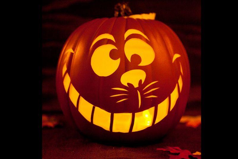 Alice in wonderland cheshire cat halloween pumpkin template cheshire cat pumpkin carving template so cute maxwellsz