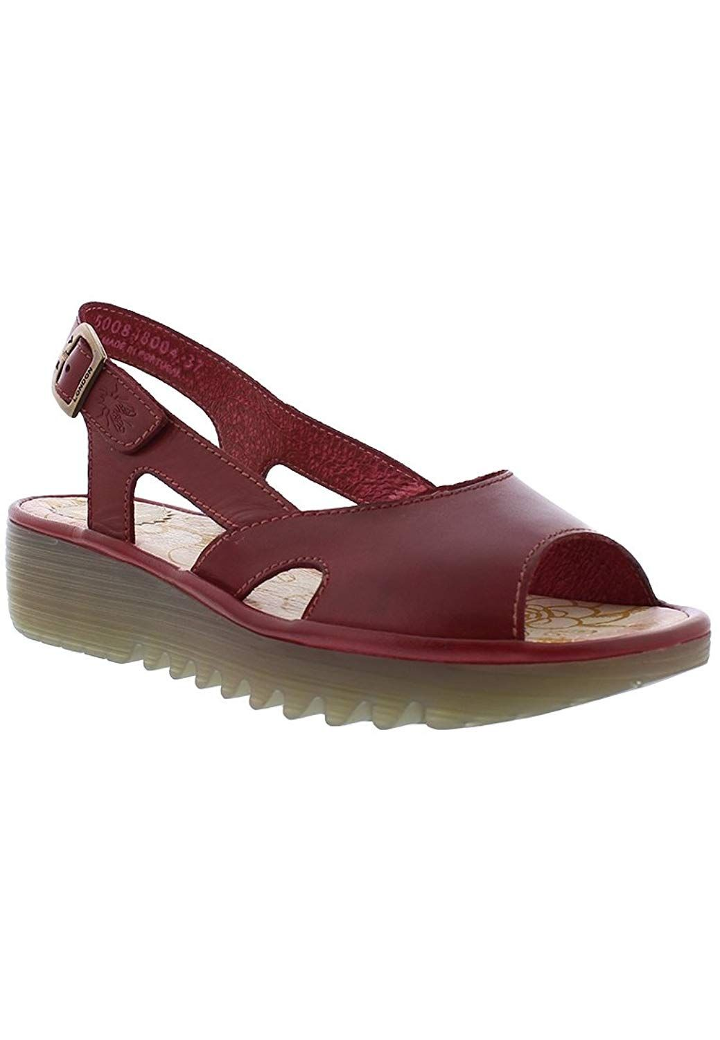 12c888d46df0 FLY London Women s ELFE848FLY Wedge Sandal. Open toe sling back sandal. Women s  Shoes