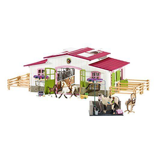 Schleich 72110 Horse Club Tierfiguren Zubehor Reiterhof Mit Waschplatz Schleich Pferde Pferdestall Puppen Geschenkide Pferdedecke Reiten Schleich Pferde