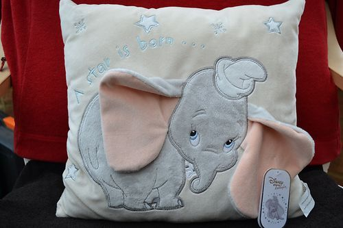 Official Disney Dumbo Elephant Grey Navy Single Bed Duvet Cover Pillowcase Set