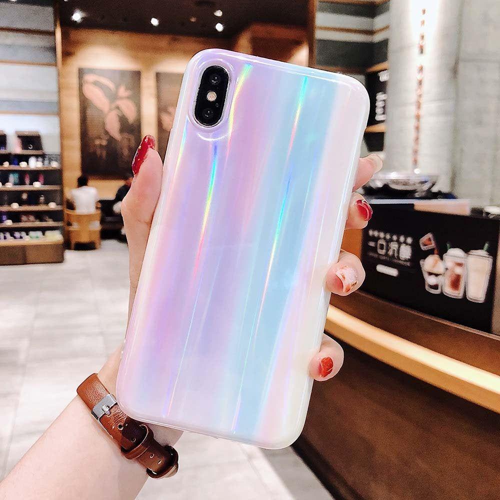 Iphone 11 pro max case laser beam holographic rainbow