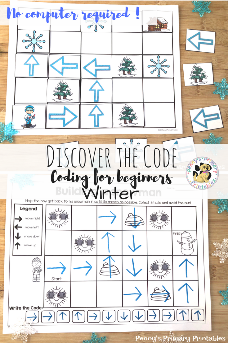 Coding:Discover the Code-Winter | TpT Language Arts Lessons