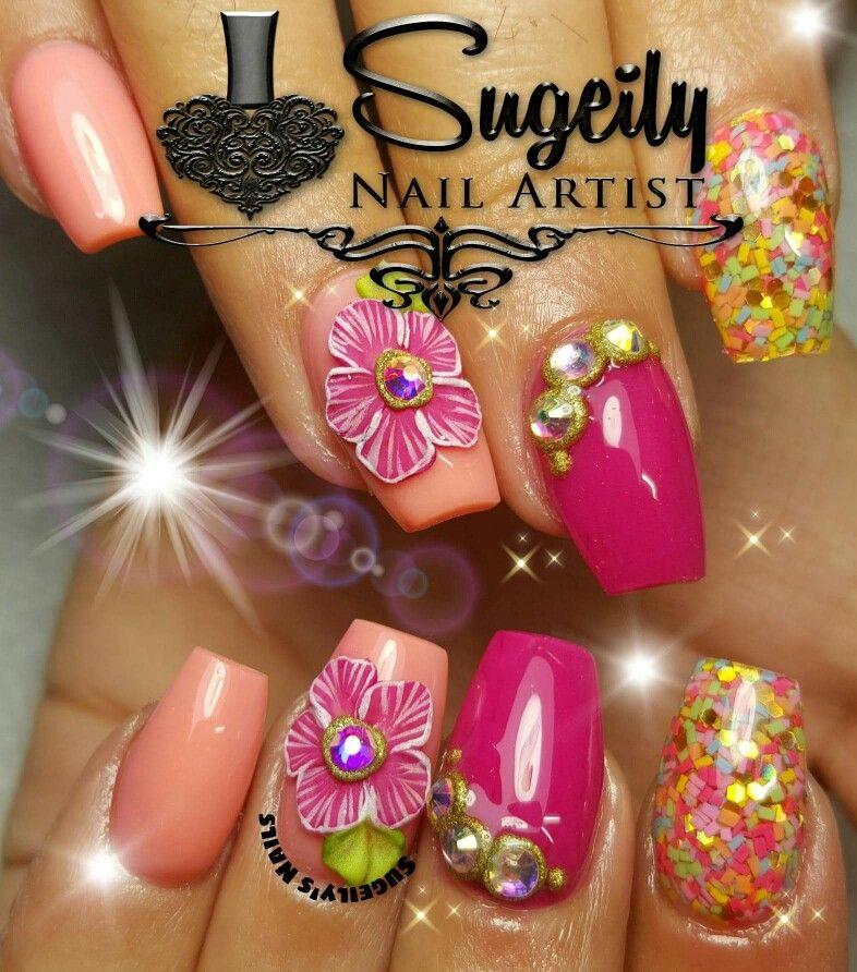 Really Cute Nail Art Idea On Short Nails 3d Nail Art Idea Ideas