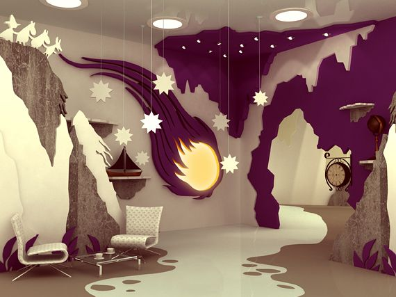amazing interior design from moomin books | moomin books, moomin