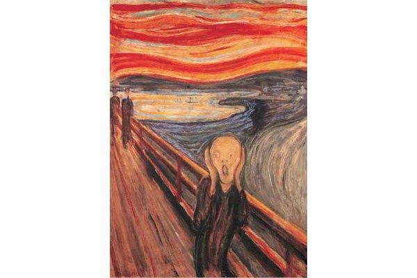 The Scream als legpuzzel van Editions Ricordi.   Painting