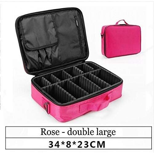 Photo of YHSGY Travel Cosmetic Bag Empty Makeup Organizer Case With Large Capacity K …