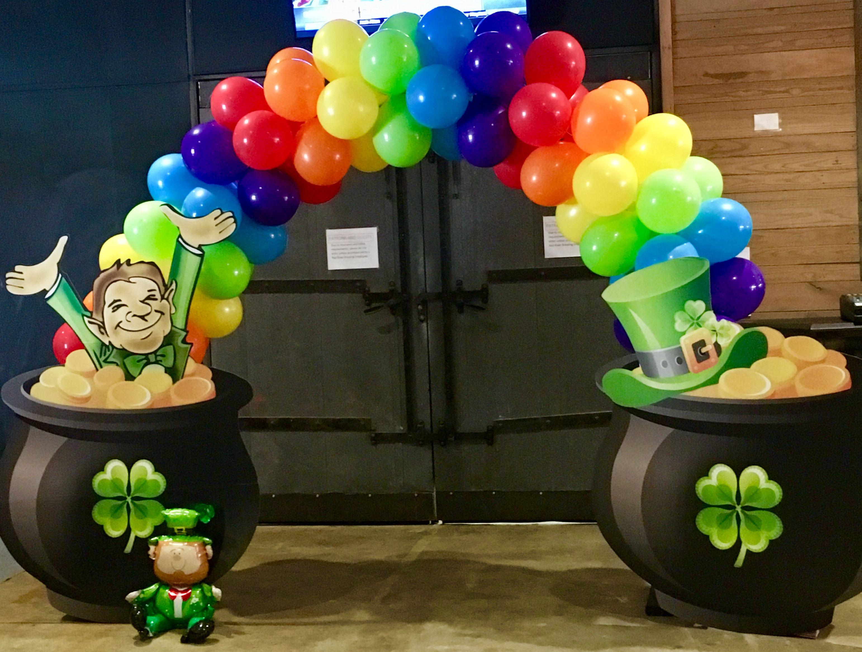 Patrick/'s Day Leprechaun Table Confetti for Party Balloon Decor Hot Metallic St