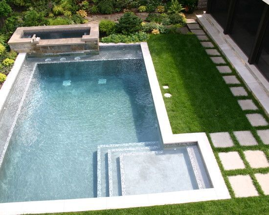 Contemporary pool small pool design pictures remodel for Pool redesign
