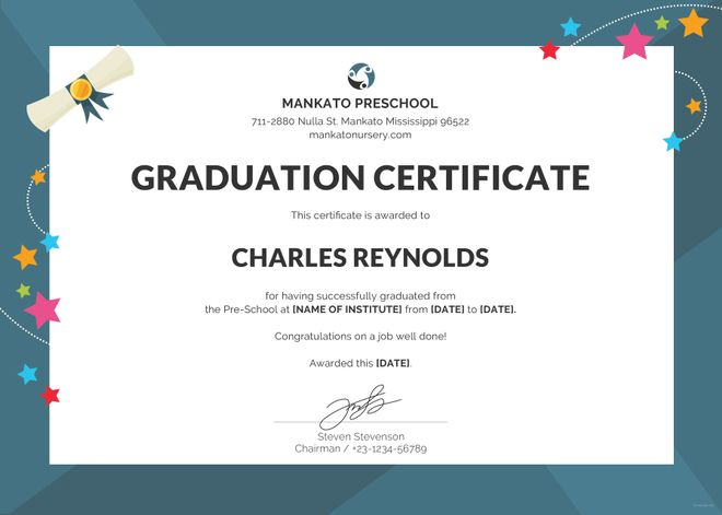 School Certificate Samples 10+ Free Printable Word  PDF