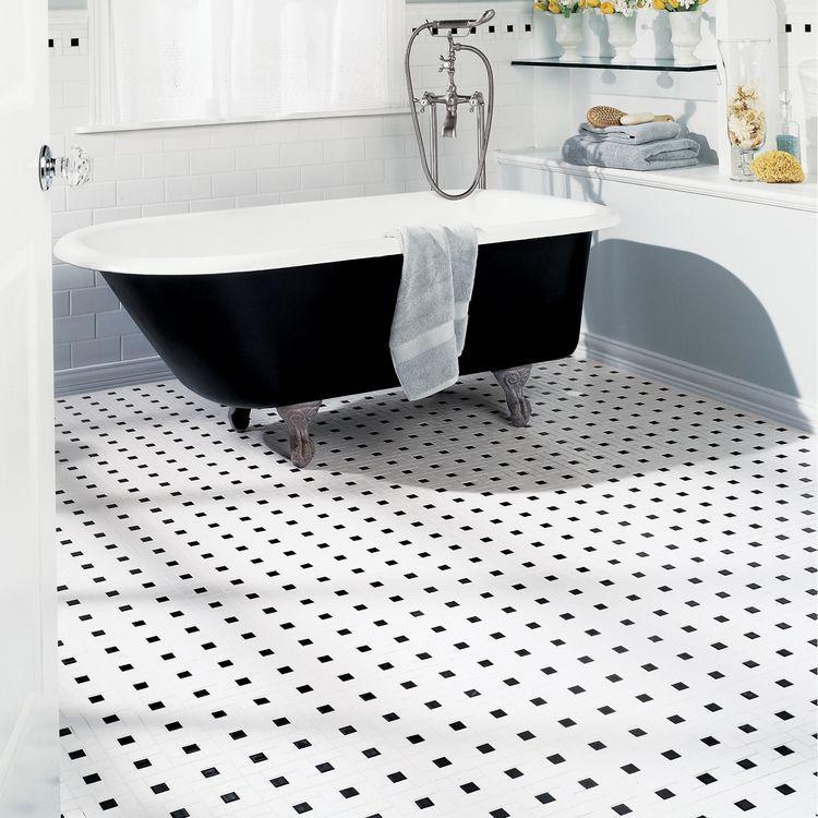Pinwheel Ceramic Tile White With Black Dot 3 99 Per Square Foot Black And White Tiles Olean Black Ceramic Tiles