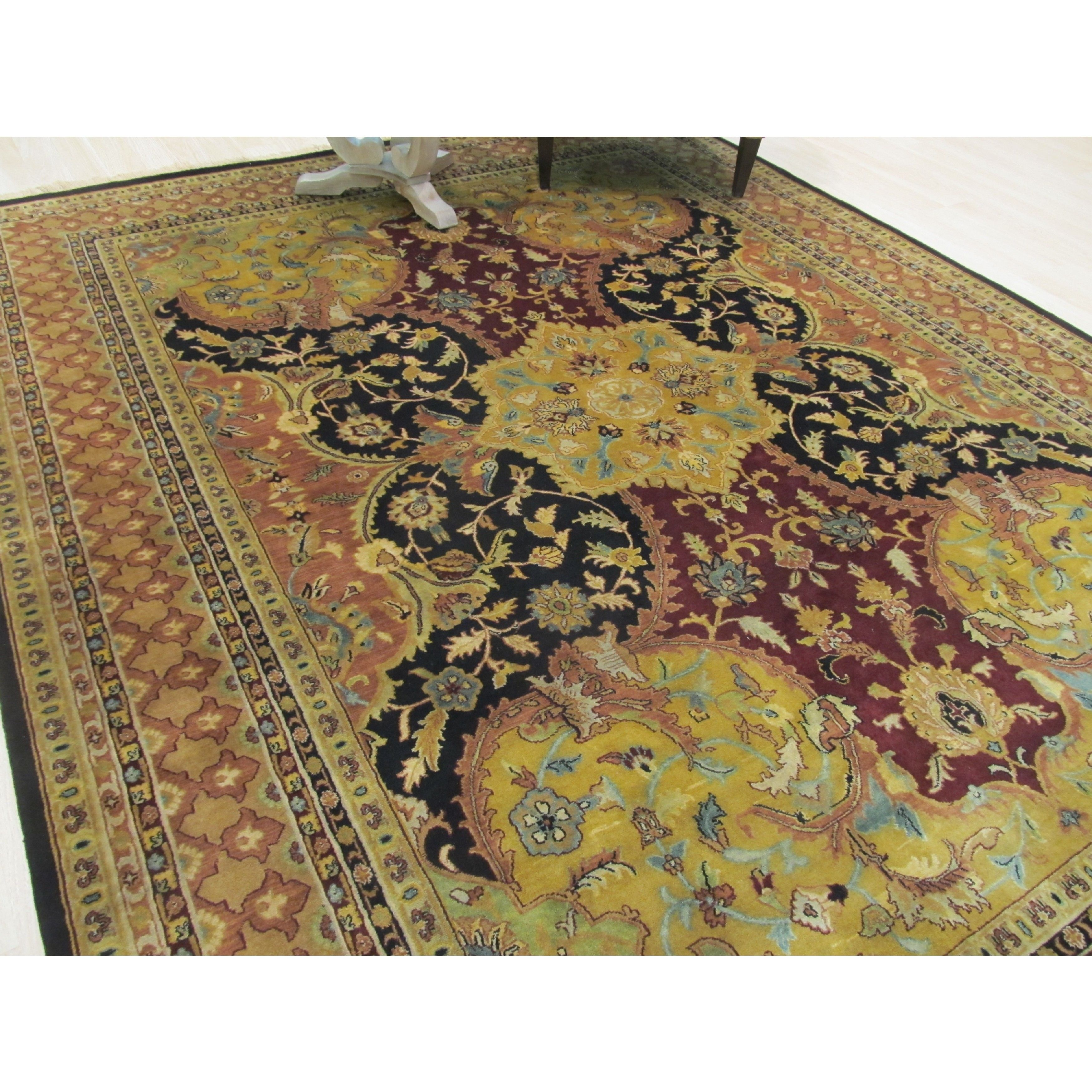 Polonaise antique oriental rugs - Eorc Eastern Oriental Rug Center Hand Knotted New Zealand Wool Black Polonaise Rug 4 X 6 4 X 6 Size 4 X 6