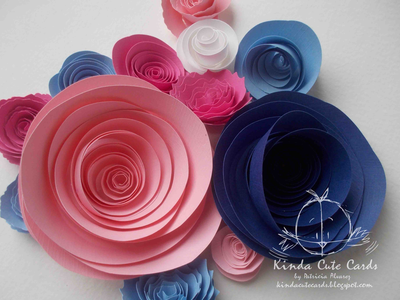 Flores De Papel Enrolladas Tutorial Rolled Paper Flowers Cake