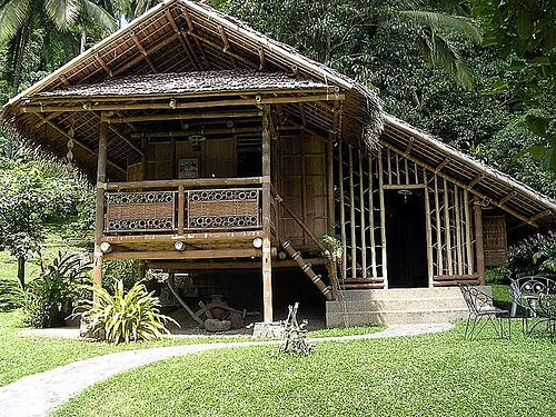 Bahay kubo philippines traditional house beach hut typ for Traditionelles thai haus