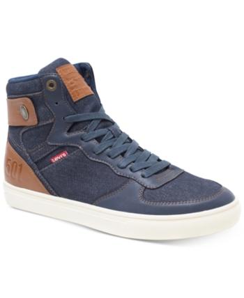 Jeffrey Hi 501 Denim Sneakers - Black