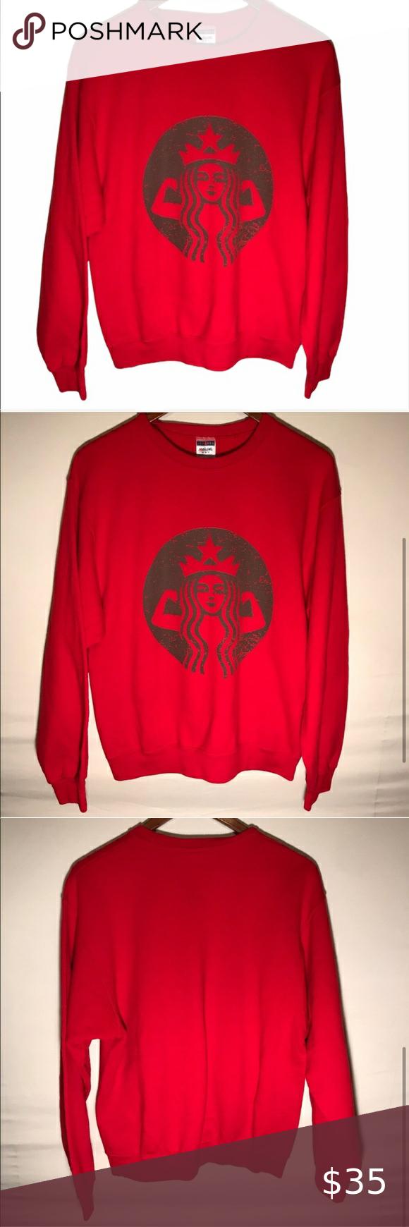 Women S Starbucks Logo Red Crewneck Sweatshirt In 2021 Sweatshirts Starbucks Logo Crew Neck Sweatshirt [ 1740 x 580 Pixel ]