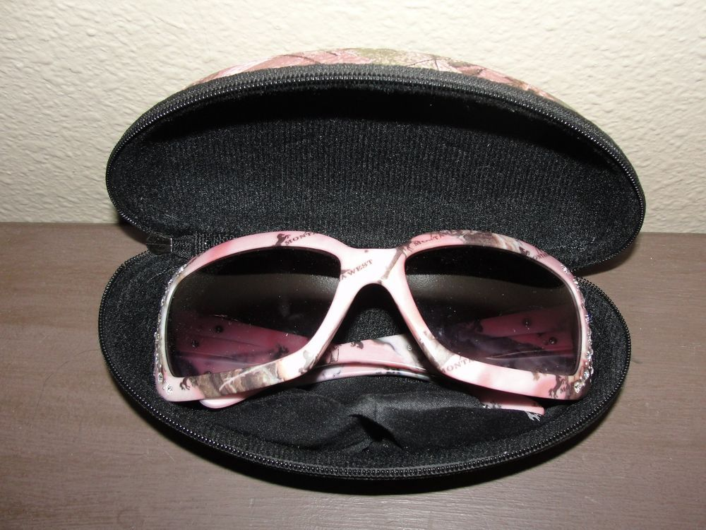 479d3fb8d94 Montana West Pink Camo Sunglasses. Rhinestones and Boot Design. Includes  case and cloth.