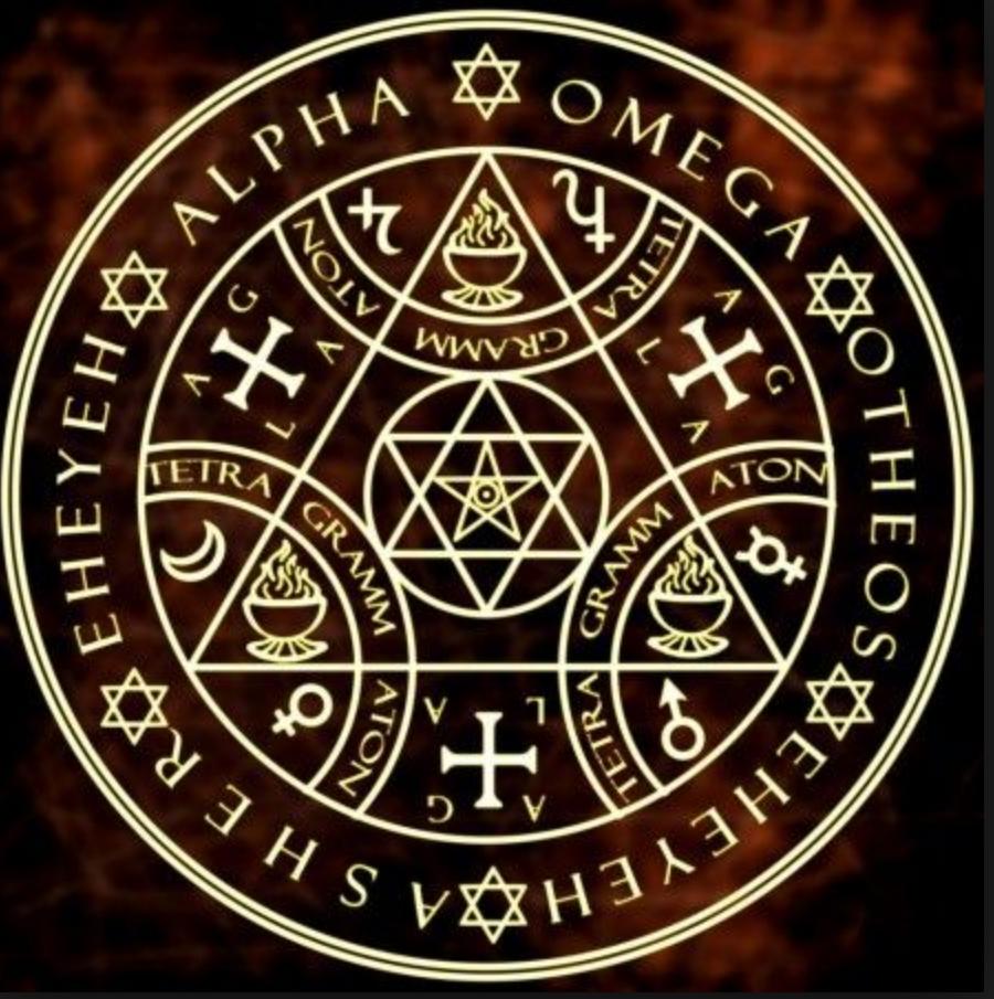 Alpha And Omega Enochian Magic Circle Magic Symbols