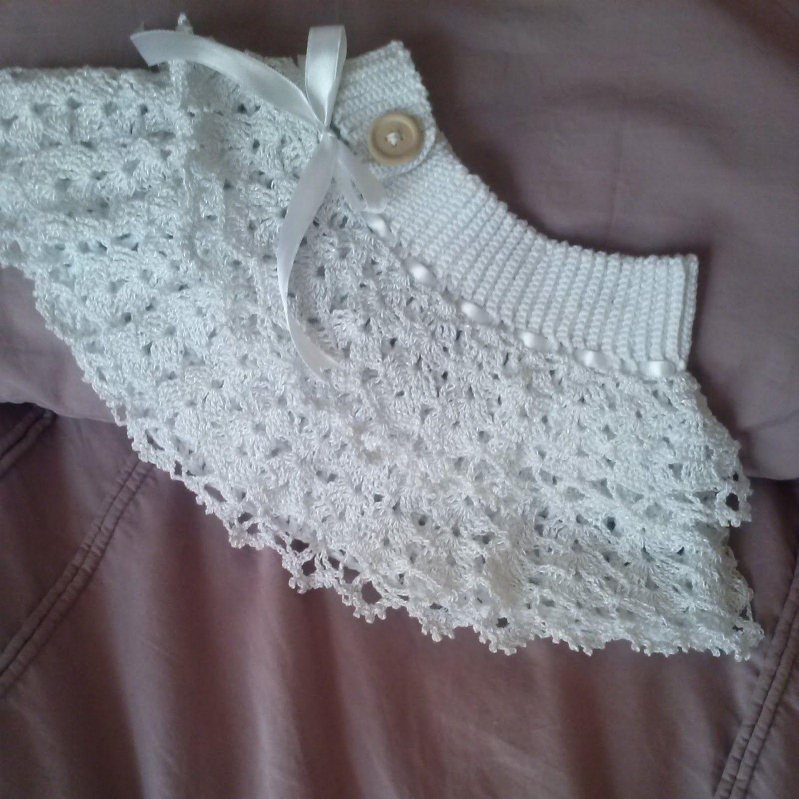 Crochet Ruffled Baby Dress Pattern : The Zen Crocheter: Crochet ruffled white lace baby girl ...