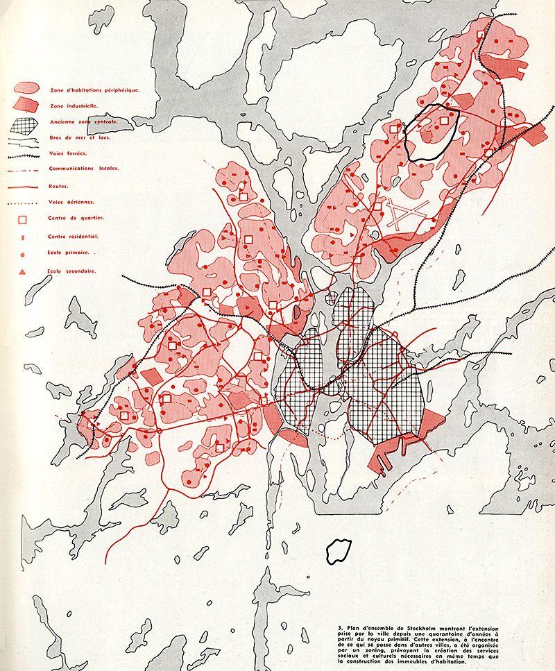 Graphic Site Map: Architecture D'Aujourd'Hui 63 Dec 1955: 61