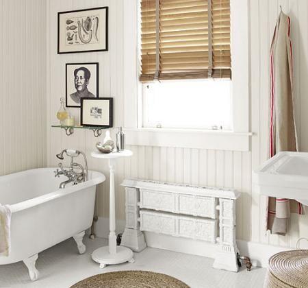 Ba o blanco mi casa pinterest ba os r sticos fotos for Banos blancos rusticos
