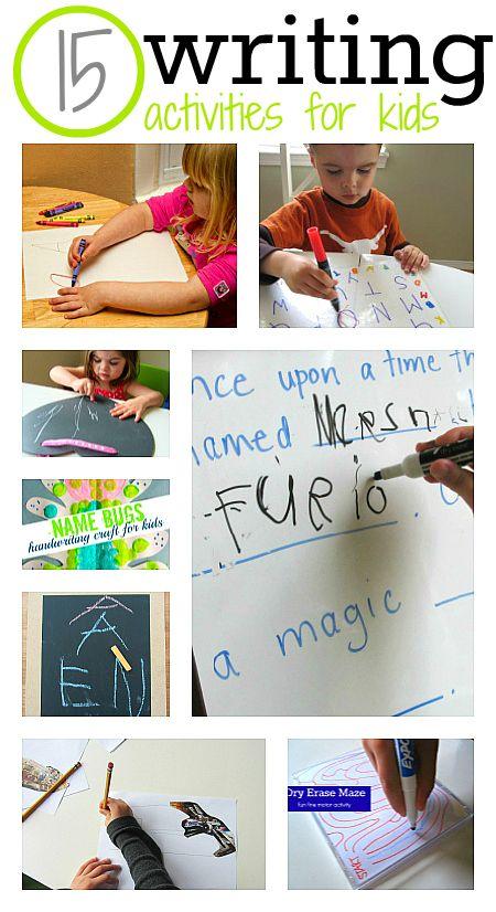 15 Fun Writing Activities For Kids Fun Writing Activities Writing Activities Cool Writing How to teach my kindergartener at home