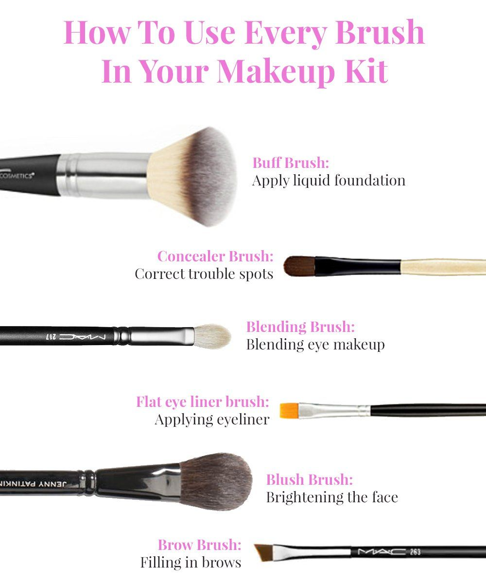 Here S How You Should Be Using Every Brush In Your Makeup Brush Set Makeup Brush Set Top Makeup Products Foundation Concealer Brush