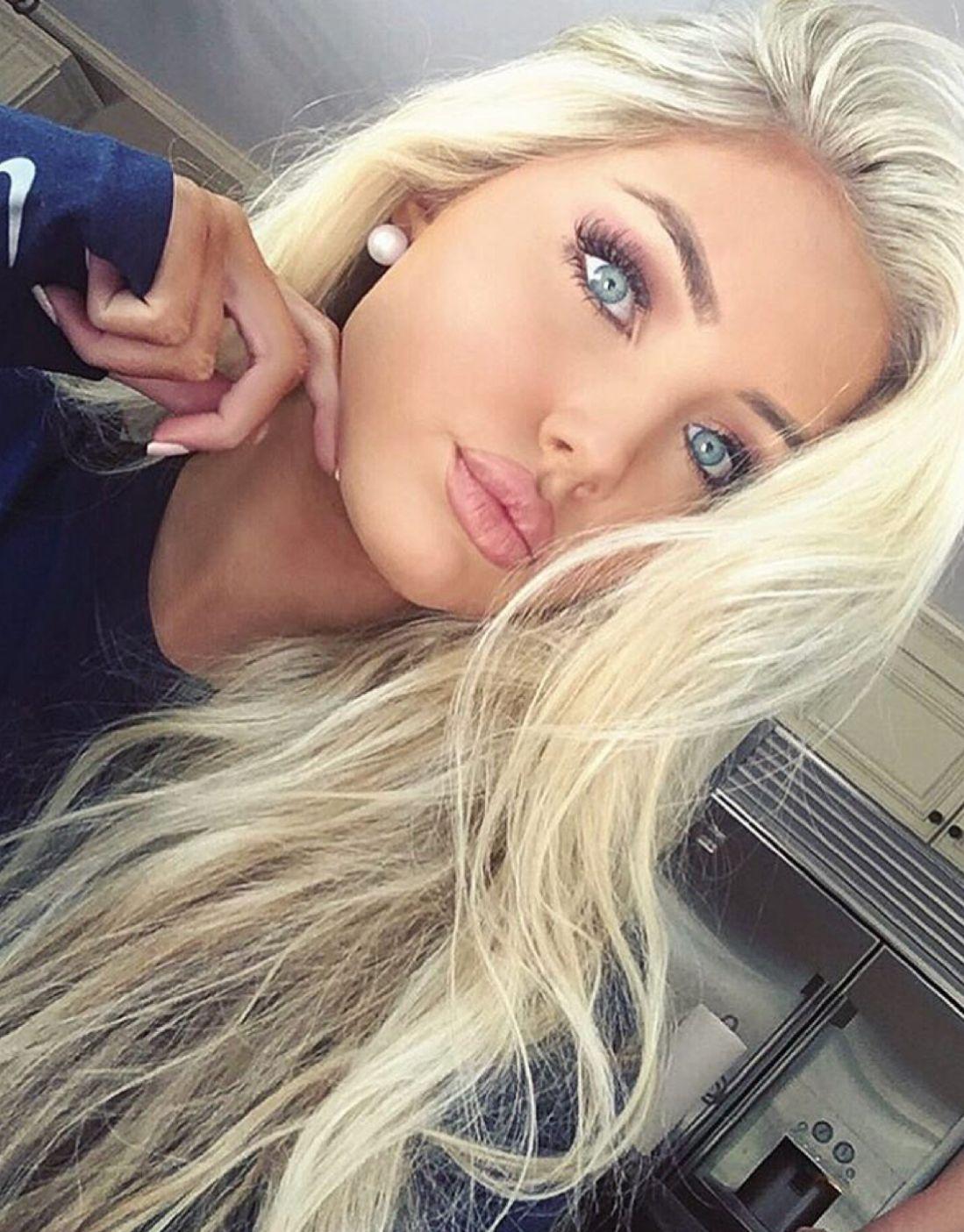 Beauty Cute Makeup Eyes Hair Blue Bossbabe Platinum Blonde