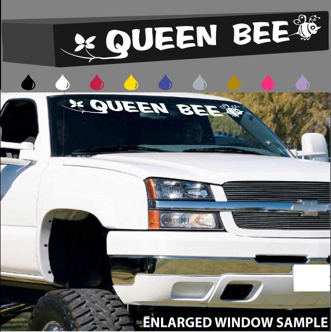 Cars · queen bee windshield decal