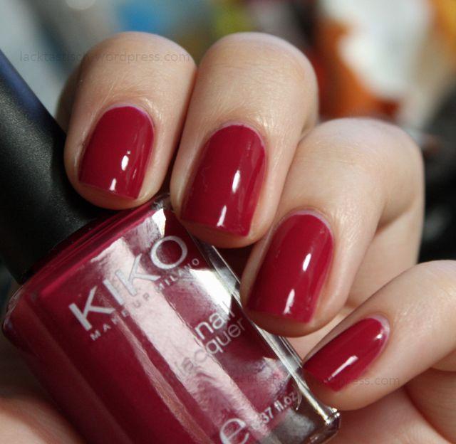 KIKO 363 Cherry Red | Nails | Nail polish, Cherry red, Nail polish ...