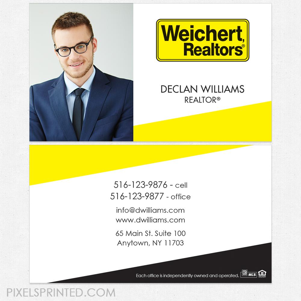 Weichert business cards, business cards, Weichert cards, realtor ...