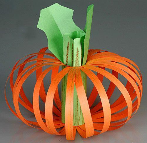 A Paper Pumpkin! crafty kid stuff Pinterest Paper pumpkin - how to make homemade halloween decorations for kids