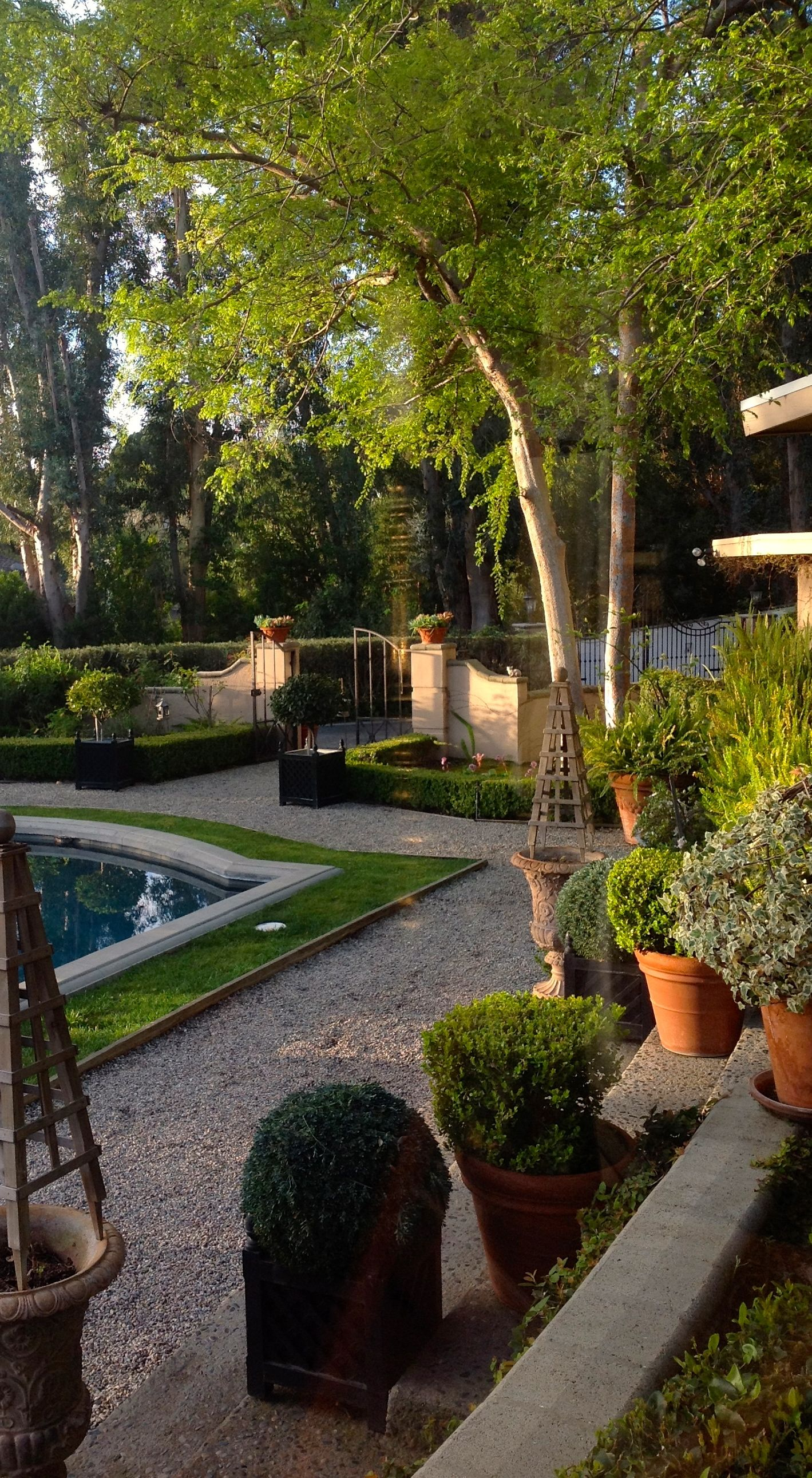 Pool Garten Winter Designer Joe Ruggiero S Garden In California Winter Home Decor
