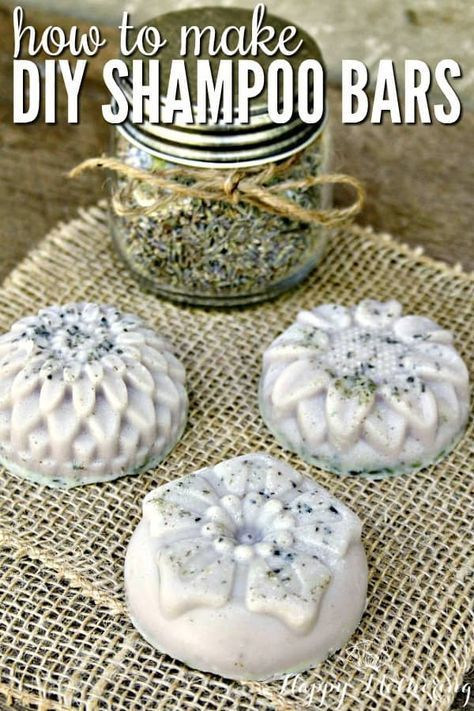 How to Make Shampoo Bars for Healthy Hair #naturalhaircareproducts