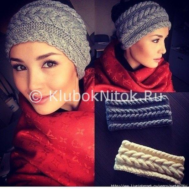 Вязание спицами повязки на голову для женщин