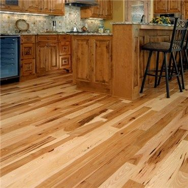 Hickory Character Natural Prefinished Solid Wood Flooring Hurst