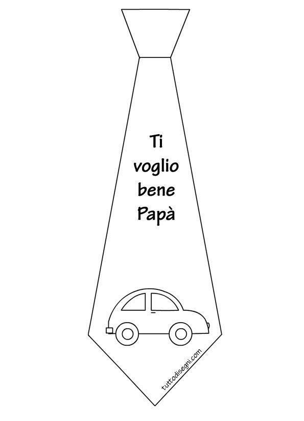 Festa Del Papà Cravatta Con Disegno Da Colorare Tuttodisegnicom