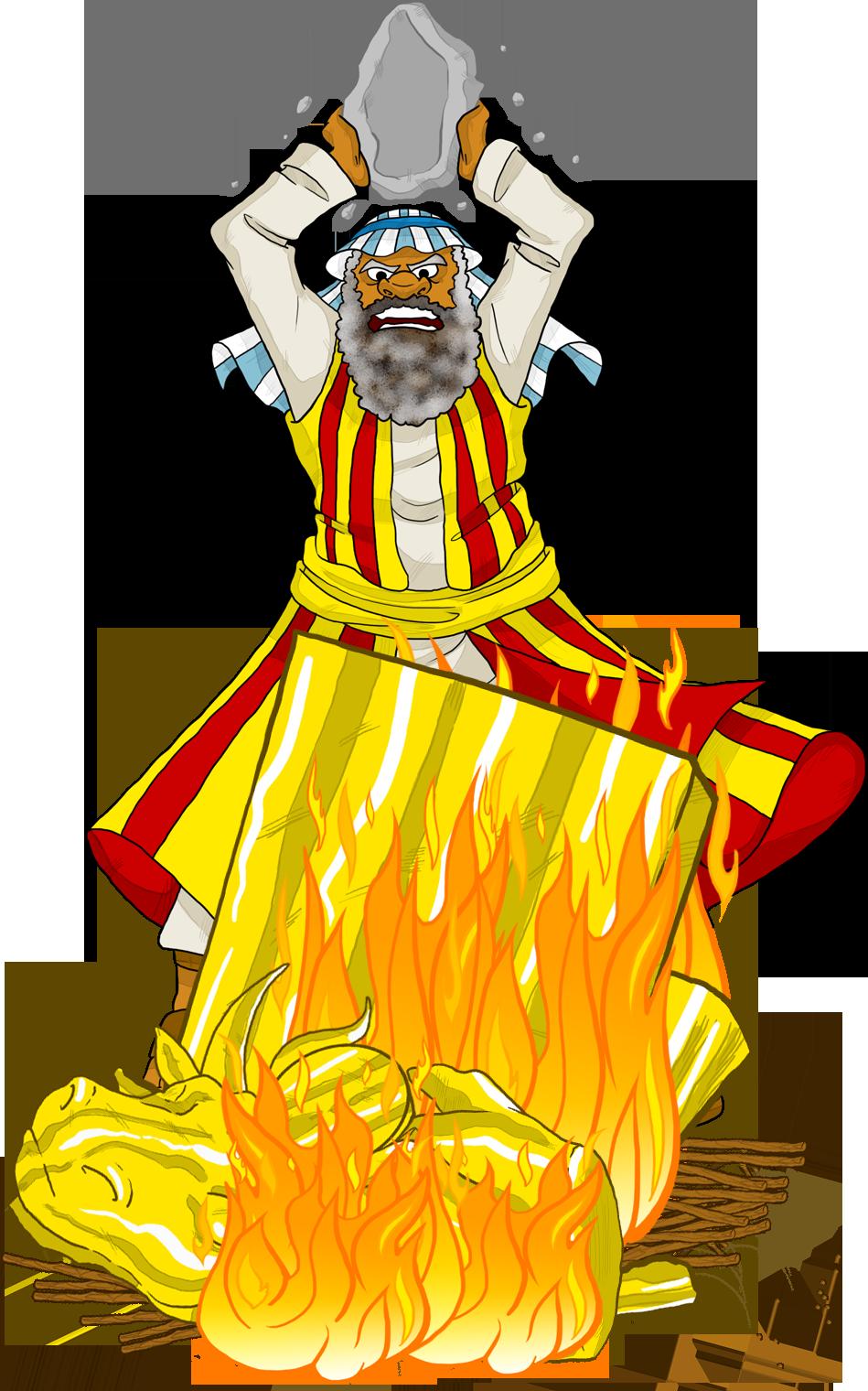 Free coloring page golden calf - Moses Destroys The Golden Calf
