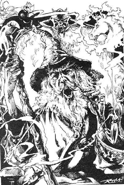 The Wizard Nicodemus City Of Thieves Fighting Fantasy Gamebook Iain Mccaig Fighting Fantasy Books Fantasy Wizard Fantasy Illustration