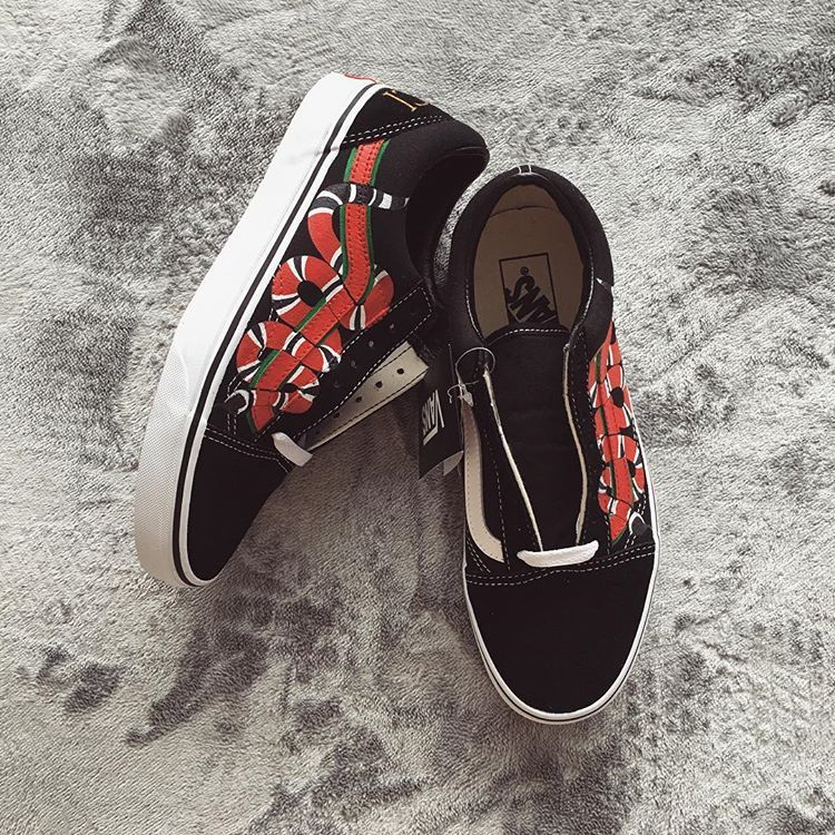 c466326a5 Gucci Snake customized Vans Oldskool | Shoes | Custom vans shoes ...
