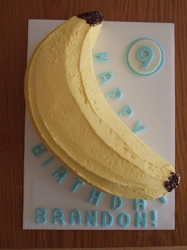 Banana Shaped Cake By Carries Cakery Cakes Pinterest Cake