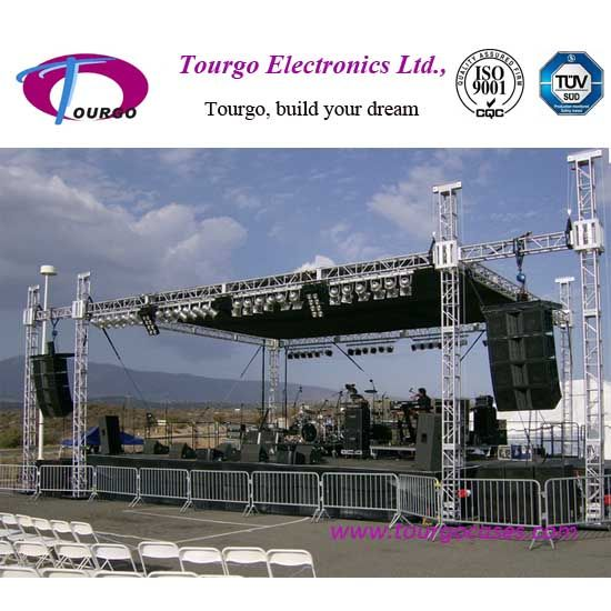 Peaked Roof Type Aluminum Truss For Concert Performance Outdoor Stage Roof Types Roof Trusses