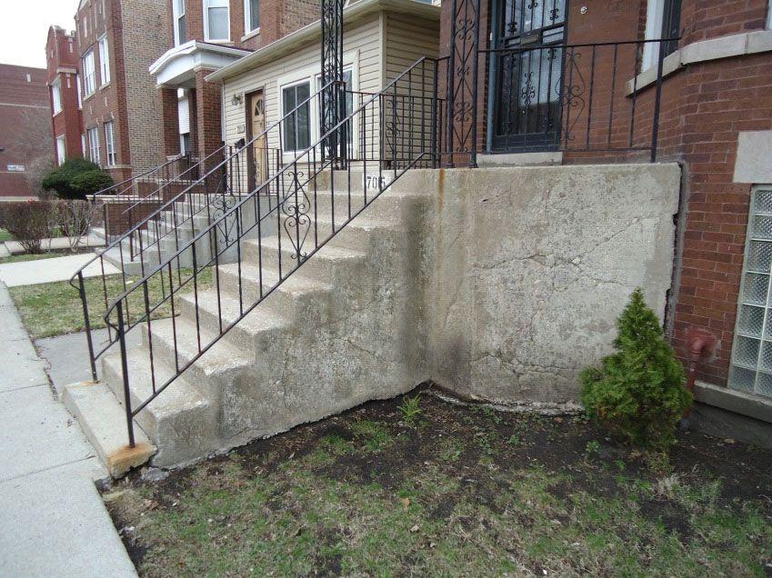 Sinking Concrete Step Repair Concrete Steps Concrete Stairs