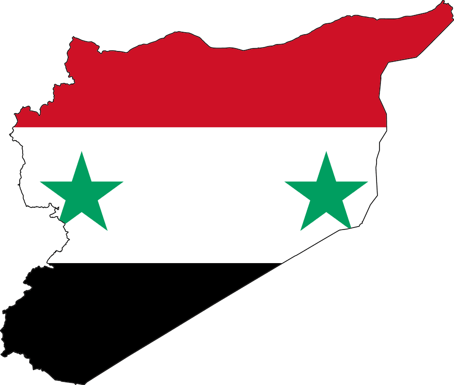 Flag Map Of Syria Flag Syria Country Syria Flag